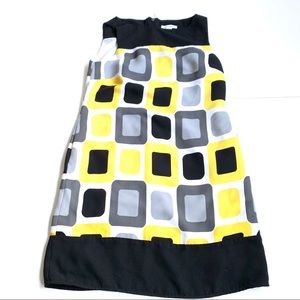 Dress Barn • Square Color Block Dress • 6
